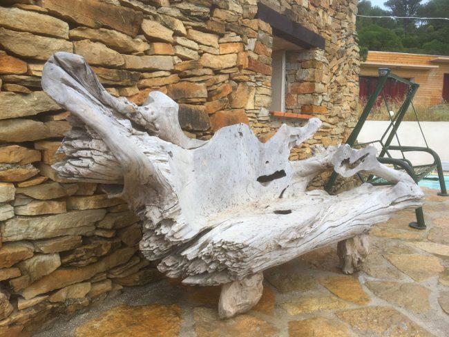 Banc de jardin en teck DEWI décoration mobilier de jardin Sanary