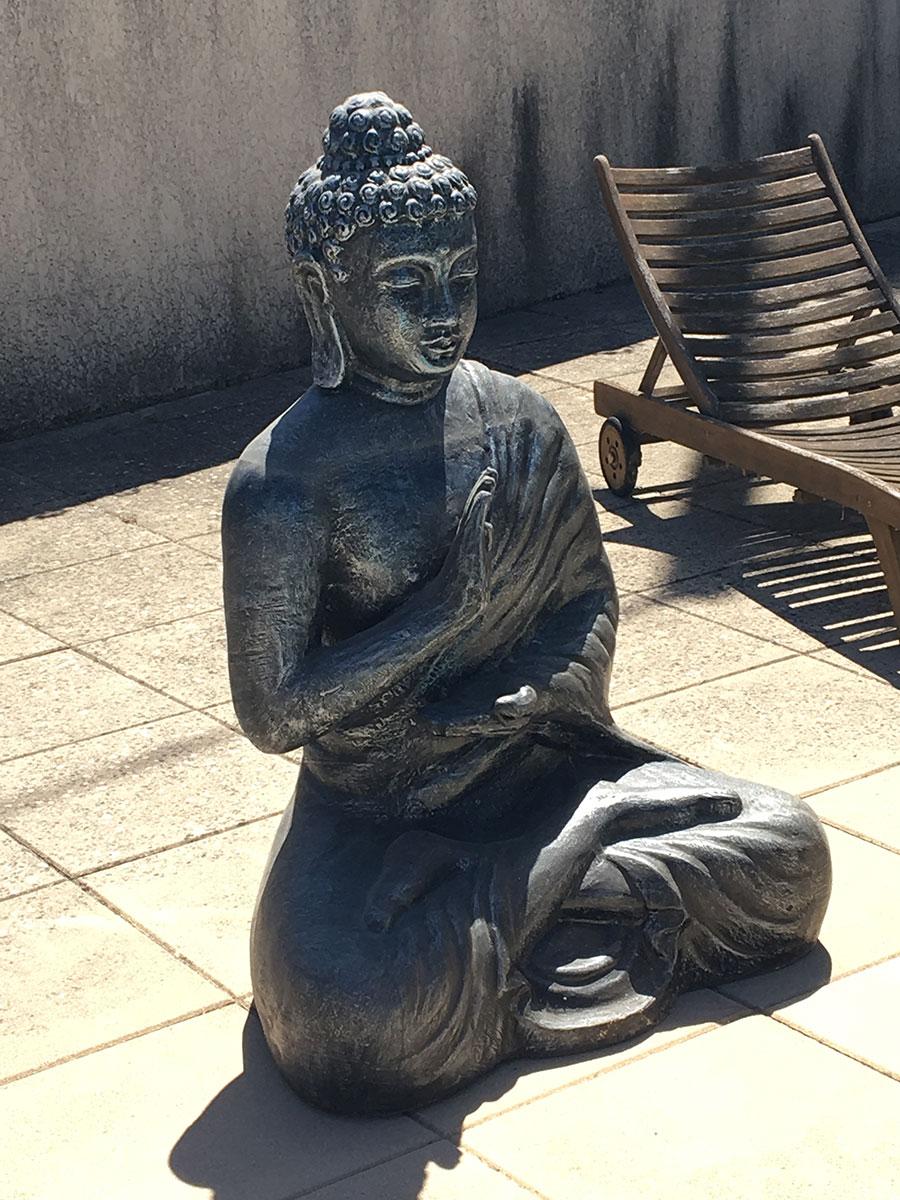 Bouddha assis Indonésie DEWI décoration mobilier de jardin