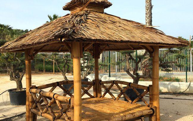 Gazebo plancher DEWI Indonésie décoration mobilier de jardin