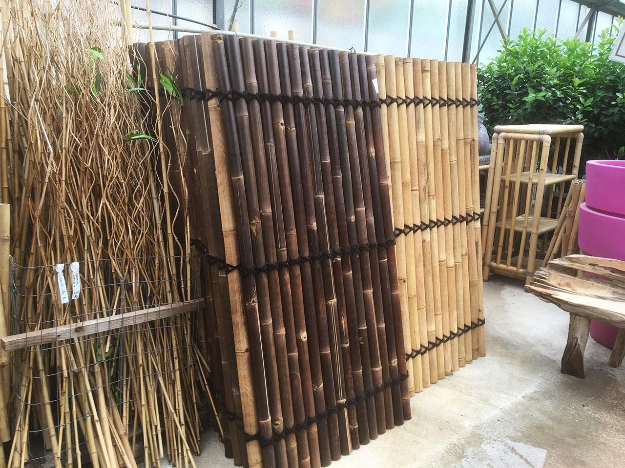 Mur en bambou DEWI Indonésie décoration mobilier de jardin